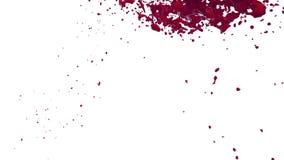 Rote Flussflüssigkeit wie Saft bewegt sich in Zeitlupe 3d übertragen flüssige CG-Zeitlupe mit Alpha Matt-, vollem hd simuliert lizenzfreie abbildung