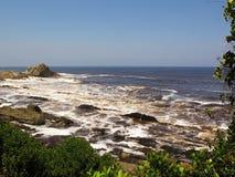 Rote Flut in Nationalpark Tsitsikamma Lizenzfreies Stockfoto