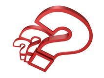 rote Fragezeichen des Konzeptes 3d auf Weiß Lizenzfreie Stockfotografie
