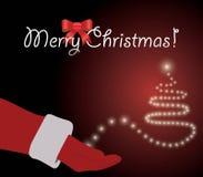 Rote frohe Weihnacht-Karte Stockfotografie