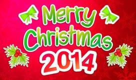 Rote frohe Weihnachten, die Art Paper Card grüßen Lizenzfreie Stockfotografie