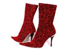 Rote Fußbekleidung Lizenzfreie Stockfotos