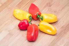 Rote gelb-orangee Pfeffer Stockfoto