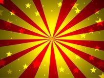 Rote gelbe Sterne lizenzfreie abbildung