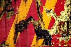 Rote gelbe Streifen Stockfoto