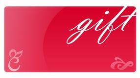 Rote Geschenk-Karte Stockfoto
