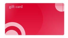 Rote Geschenk-Karte Lizenzfreie Stockfotografie