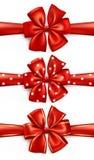 Rote Geschenkbögen Stock Abbildung