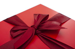 Rote Geschenkbox Lizenzfreies Stockfoto