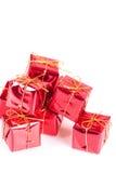 Rote Geschenkbox Stockfoto