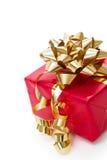 Rote Geschenkbox für Weihnachten Stockbilder