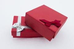 Rote Geschenke für Valentine Day Stockbild