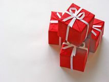 Rote Geschenkkästen 1 Lizenzfreie Stockfotos