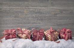 Rote Geschenkkästen Lizenzfreie Stockbilder