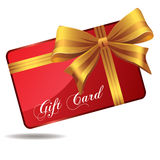 Rote Geschenkkarte Lizenzfreies Stockfoto