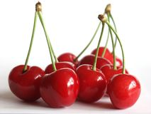Rote geschmackvolle Kirschen Stockfoto
