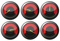 Rote Geschwindigkeitsmesser Stockbild