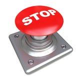 Rote getrennte hohe Auflösung der STOPP-Taste Bild 3d Stockfoto