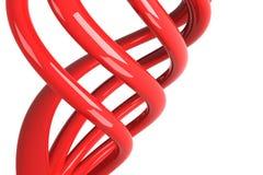 Rote getrennte Seilzüge stock abbildung