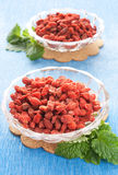 Rote getrocknete goji Beeren lizenzfreie stockfotografie