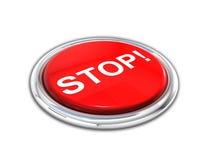 Rote glänzende STOPP-Taste Lizenzfreies Stockfoto