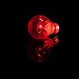 Rote Glühlampen Stockbild