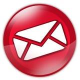 Rote Glas-eMail-Taste Stockbilder