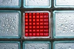 Rote Glasfliese Stockfotografie