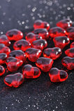 Rote Glasherzen Stockbild