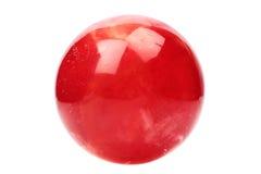 Rote Glaskugel Stockfoto