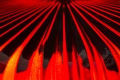 Rote Glaszusammenfassung Stockbild