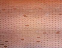 rote glatte Backsteinmauerbeschaffenheit Stockfoto