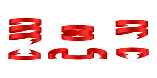 Rote glatte Bandfahnen Stockfotografie
