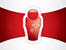 Rote glatte Doktorikone Stockbilder
