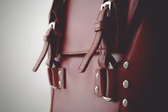 Rote glatte weibliche Ledertasche Lizenzfreies Stockfoto