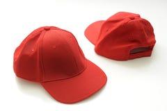 Rote Golfschutzkappe Stockfotografie