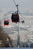 Rote Gondel in einer Luft Lizenzfreies Stockbild