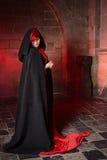 Rote gotische Hexe Stockbild