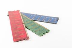 Rote grün-blaue Farbe von RAM für PC Stockfotografie