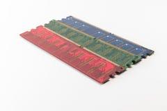 Rote grün-blaue Farbe von RAM für PC Lizenzfreies Stockbild