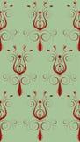 Rote grüne abstrakte Blume Stockbild