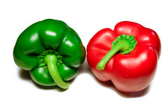 Rote grüne Gemüsepaprikas Stockbild