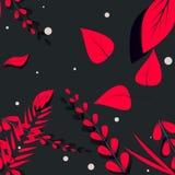 Rote grafische Blumen Stockfotos