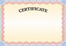 Rote Grenze 3 des Zertifikats Lizenzfreie Stockfotografie