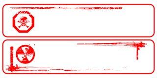 Rote grunge Gefahrenfahne Lizenzfreies Stockfoto