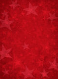 Rote Grunge Sterne Lizenzfreies Stockbild