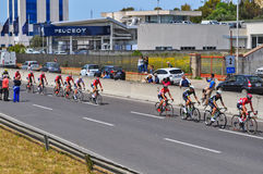 Rote Gruppe Radfahrer Stockbilder