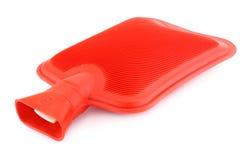 Rote Gummiwärmflasche Stockbild