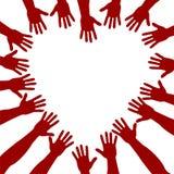 Rote Hände Stockbild