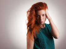 Rote Haar-Schönheit Lizenzfreies Stockfoto